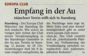 Starnberger Merkur vom 30. Dezember 2013