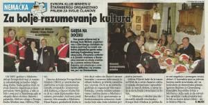 «Vesti» (Serbische Zeitung) vom 18. Januar 2014