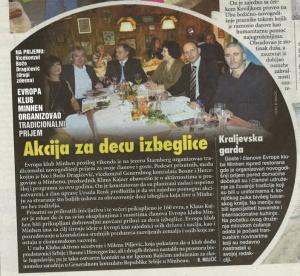 Vesti (Serbische Zeitung) vom 29. Januar 2015