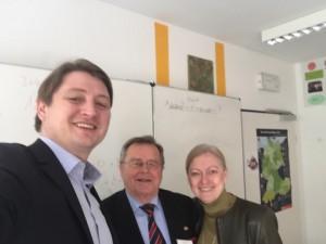 v. l. n. r. Björn Schalles, Klaus Kaiser, Ursula Renk